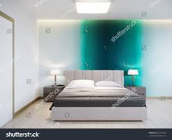 Modern Turquoise Bedroom Design Urban Contemporary Modern Bedroom Interior Design Stock
