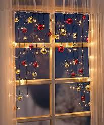 Led Lichtervorhang Mit Kugeln Weihnachtsbeleuchtung