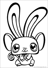 Littlest Pet Shop Color Page Coloring Pages For Kids Cartoon