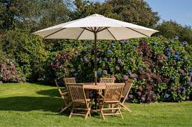 a size guide on our garden umbrellas