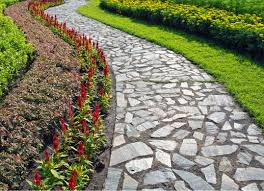 affordable stone pathways with rock pathways ideas