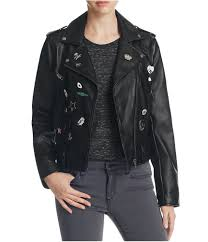 bale womens pins patch motorcycle jacket 0