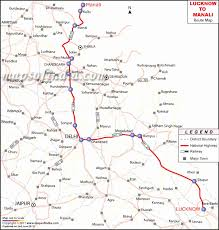Lucknow Manali Route Map