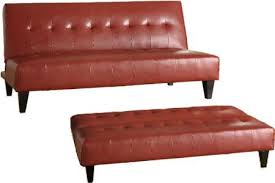 futon sofa bed. Red By-Cast Leather Futon Sofa Bed I