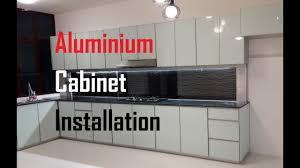 Fully Aluminium Kitchen Cabinet Installation 4 Hours 16 Minutes