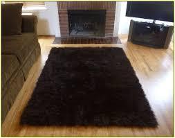 faux fur area rug dark brown