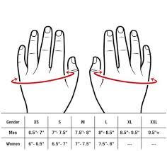 Large Gloves Size Chart Product Sizing Charts Lift Tech Fitness