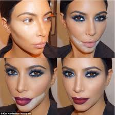 tricks of the trade kim kardashian shared this collage of her make up on