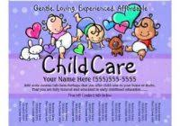 Childcare Flyers Fancy Images Of Daycare Flyers Child Care Flyers Programs