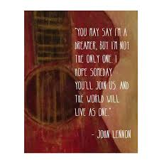 John Lennon Song Lyrics Wall Art ...
