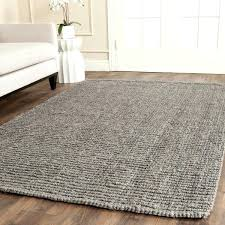 round jute rug 6 casual natural fiber hand woven light grey chunky thick 6x9
