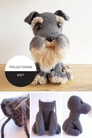 Crochet Dog Pattern Interesting PROJECT 48 AMIGURUMI DOG WITH DIY FUR PROJECTARIAN Tutorials