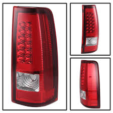 06 Chevy Silverado / GMC Sierra LED Tube Tail Lights - Red Clear