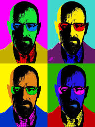 andy warhol style of painting walter white pop art in the style of andy warhol