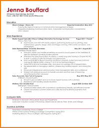 Examples Of Resumes For College Students Free Resume Example And