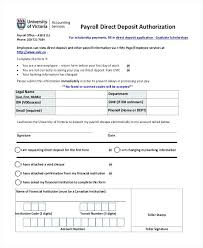 Direct Deposit Sheet Deposit Form Template Direct Payroll Adp Cotizarsoat Co