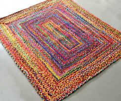 rag rugs braided rug in colorful cotton chindi contemporary colorful design reversible 4 x 6 feet avioni premium eco collection best er