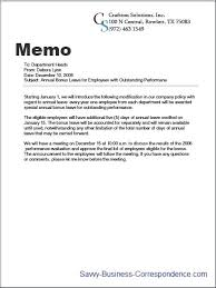 correspondence template sample company memo examples of business communications