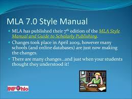 Mla 70 Citation Format And Ppt Download