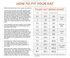 Tilley Hats Uk Sizing Guide