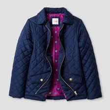 Girls' Lightweight Quilted Jacket - Cat & Jack™ Navy : Target & Girls' Lightweight Quilted Jacket ... Adamdwight.com