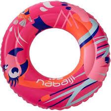 """<b>Надувной круг</b> 51 см розовый с принтом """"Фламинго"""" для детей 3 ..."""