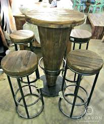 wood pub table i round reclaimed height tables full tall bar for hire rustic sets set
