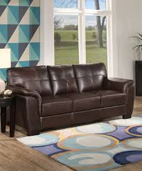all gone brown center tufted roll arm leather sofa