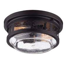 wolfe bronze 2 light outdoor flush mount