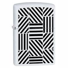 <b>Зажигалка</b> с покр. White Matte белая <b>Zippo 214 Abstract</b> GS ...