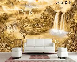Beibehang Benutzerdefinierte Große Fotowand Papier Gold
