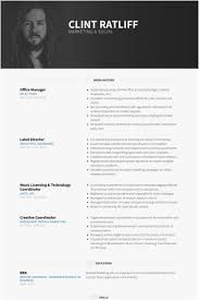 Events Manager Resume Sample Free Template Fice Manager Resume