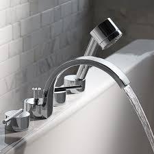 rem deck mount bathtub faucet with hand shower