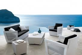 awesome patio design with contemporary outdoor furniture with white chairs plus black seat black and white patio furniture