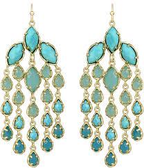 kendra scott freesia chandelier earrings turquoise