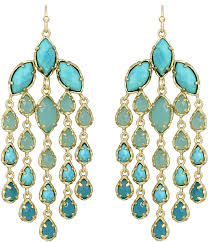 kendra scott freesia chandelier earrings turquoise
