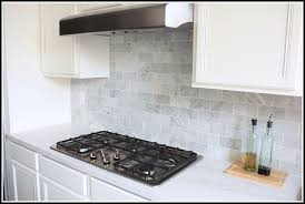 carrara marble backsplash. Simple Backsplash Carrara Marble Subway Tile Backsplash Home Design Ideas With W