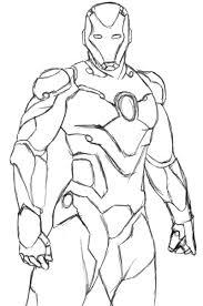 Coloriage Avengers Iron Man Dessin A Imprimer L L L L L L L L