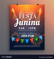 invitation flyer festa junina party invitation flyer design with vector image on vectorstock