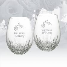 waterford lismore nouveau stemless red wine glass 16oz pair