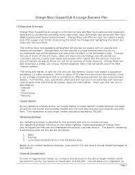 executive business plan template photos of business plan summary examples executive summary orange