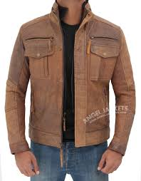 Interstate Leather Jacket Size Chart Moffit Distressed Light Brown Motorcycle Leather Jacket