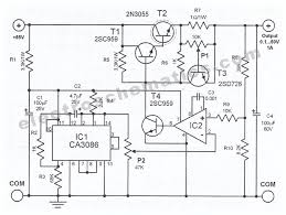 v to v variable power supply adjustable power supply circuit schematic 50 volts power supply