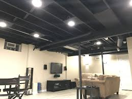 painted basement ceiling. New Exposed Basement Ceiling Painted Black Plywood Added For Painting E