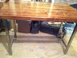 butcher block tables picture