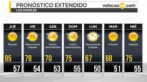 Manténgase informado sobre las noticias de colombia en el tiempo.com. Pronostico Del Tiempo Para Esta Semana En Los Angeles Noticias Ya