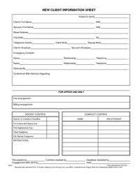 Client Information Sheet Template 2 | Tt - Marketing | Pinterest ...