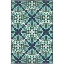 bayview blue aqua 4 ft x 6 ft indoor outdoor area rug bayview blue