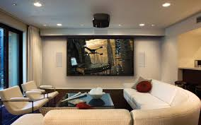 ... Living Room, Living Room Theater Inspirations For Your Own Cinema  Minimalist Modern Home Theater Ideas ...