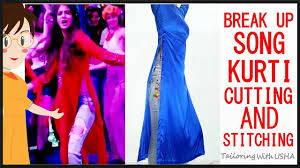 breakup song kurti cutting and sching breakup song kurta diy tailoring with usha